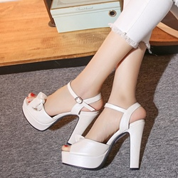 Shoespie Cute Bows Heel Sandals