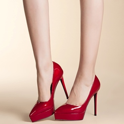 Shoespie Elegant Stylish Pointed Toe Platform Heels