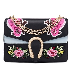 Shoespie New Arrival Butterfly Embroidered Chain Bag