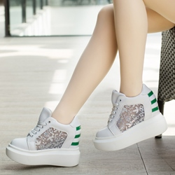 Shoespie Cute Sequin Decorated Platform Sneakers