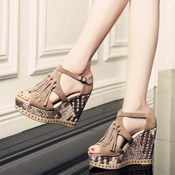 Shoespie Stylish Fringing Wedge Sandals