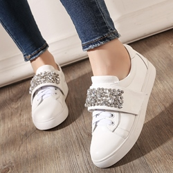 Shoespie Chic Beadwork Sneakers