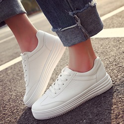 Shoepie New Lace Up White Sneakers
