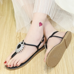 Shoespie Statement Decoration Thong Flat Sandals