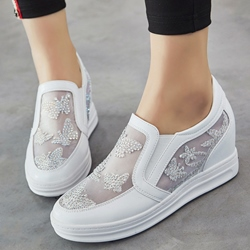 Shoespie Cute Mesh Slip On Sneakers