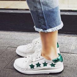 Shoespie Stars Lace Up Sneakers