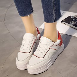 Shoespie Lace Up Color Block Sneakers