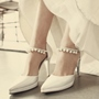 Shoespie Elegant Princess Ankle Beaded Bridal Shoes