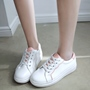 Shoespie Cute White Block Color Sneakers