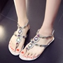 Shoespie Colorful Rhinestones Thong Flat Sandals