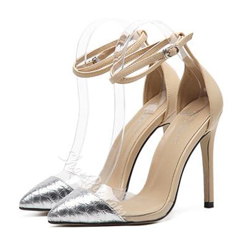 Shoespie Trendy Two Part Ankle Wrap Stiletto Heels