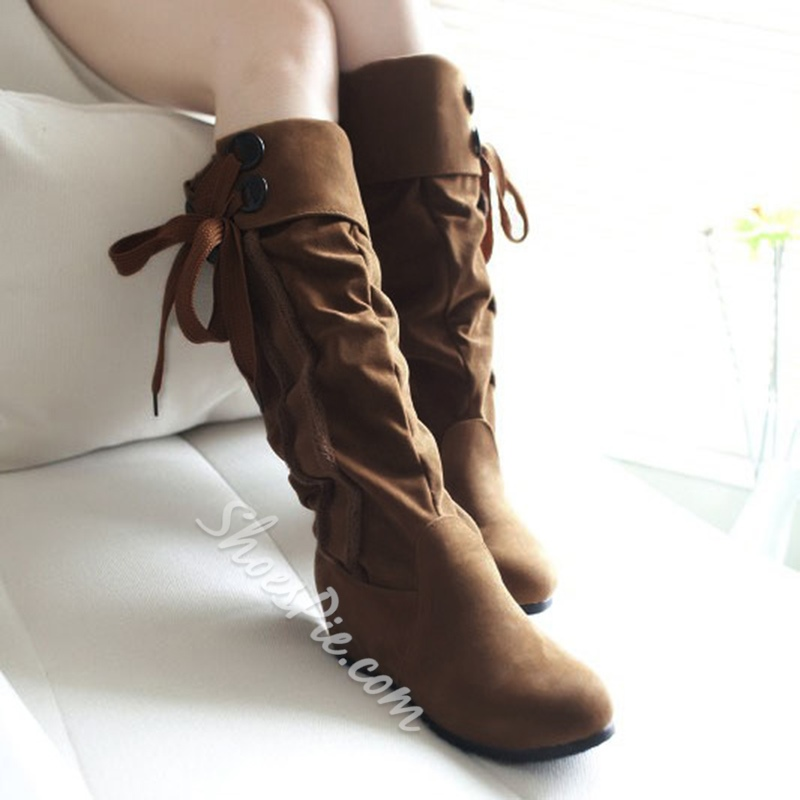 Shoespie Suede Knee High Boots