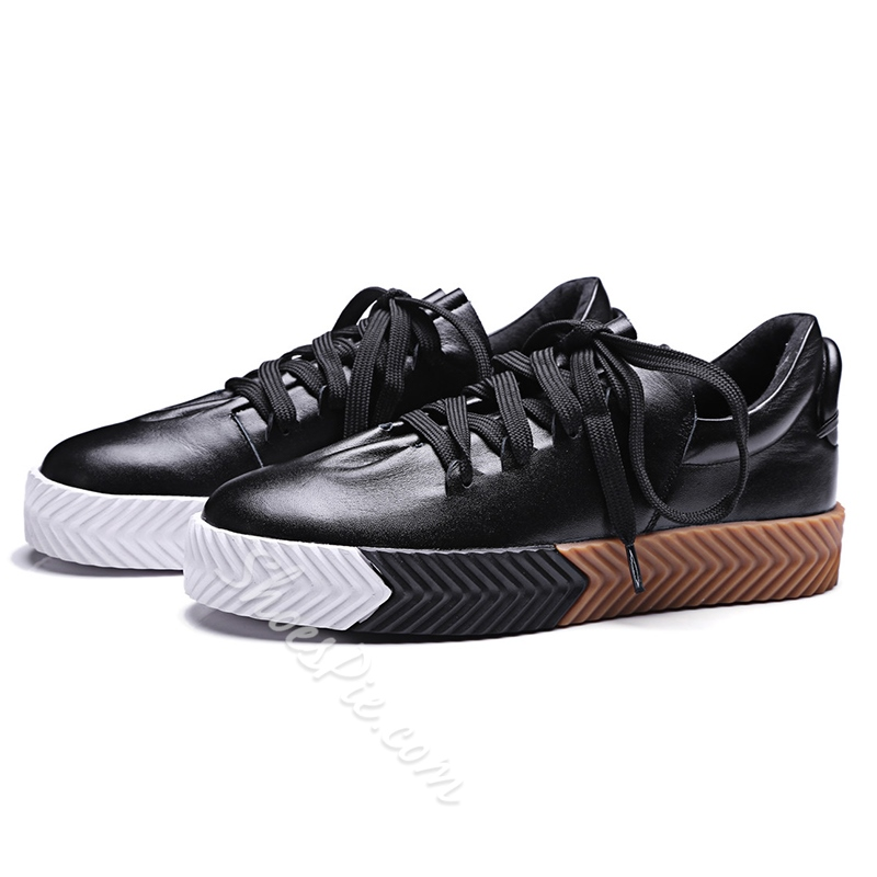 Shoespie Color Block Sole Men's Sneakers