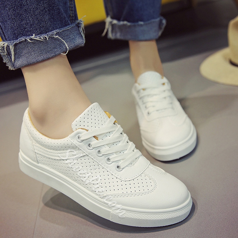 Shoespie White Summer Sneakers