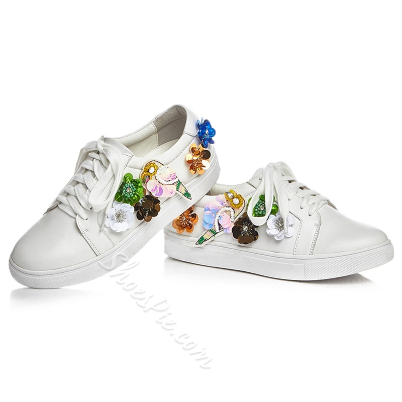 Shoespie Flora Sequin Decorated Sneakers