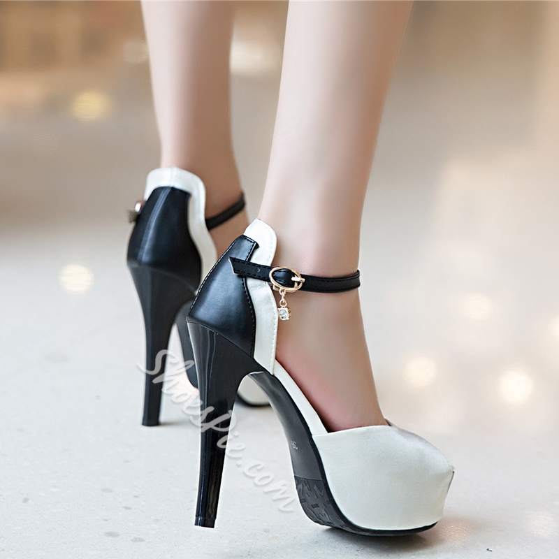 Shoespie New Arrival Ankle Strap Platform Heels