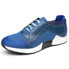 Shoespie Leather Multi Color Lace-Up Men's Sneakers