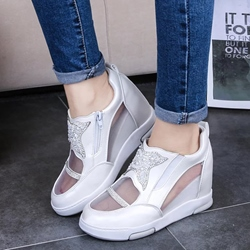 Sheospie Mesh and Sequin Stars Sneakers