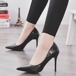 Shoespie High-end Lichee Pattern Ofice Wear Stiletto Heels