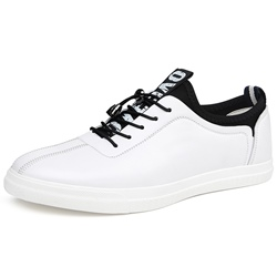 Shoespie Leather Patchwork Men's Skater Shoes