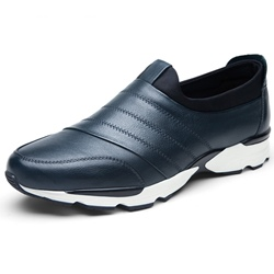 Shoespie Leather Slip-On Threading Patchwork Men's Sneakers