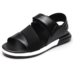 Shoespie Leather Patchwork Velcro Men's Sandals