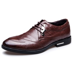 Shoespie British Leather Sequins Men's Dress Shoes