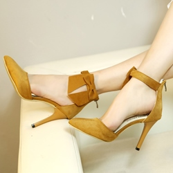 Shoespie Elegant Solid Color Cute Bow Cheap Heels