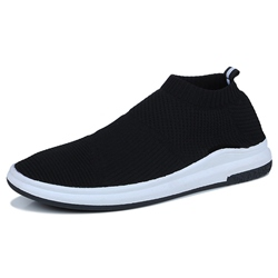 Shoespie Comforrtable Flyknit Slip On Men's Sneakers