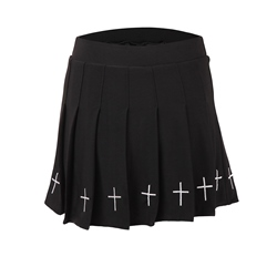 Embroidery Halloween Costume Plain Mini Skirt Women's Skirt
