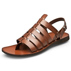 Shoespie Leather Thong Buckle Men's Sandals