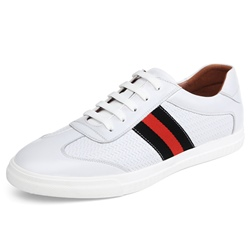 Shoespie Leather Stripes Men's Skater Shoes