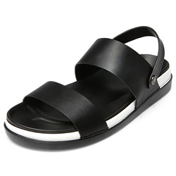 Shoespie Black Removable Sole Men's Sandals