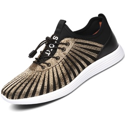 Shoespie Spandex Color Block Men's Sneakers