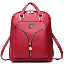 Shoespie Fashion V Shape Zipper Backpack