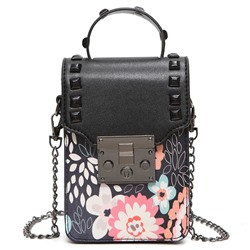 Shoespie Stylish Flower Print Mini Cellphone Bag