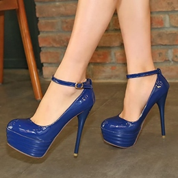 Shoespie Ankle Wrap Stiletto Cheap Platform Heels