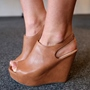 Shoespie Brown Wedge Sandals