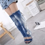 Shoespie Gorgeous Sky Blue Open Toe Knee High Boots