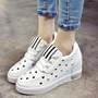 Shoespie Cute Hollow Heart White Sneakers