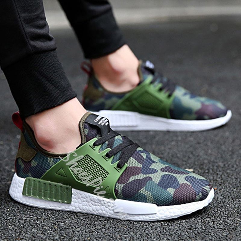 Shoespie Mesh Camo Men's Sneaker