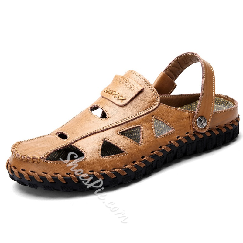 Shoespie Cutout Men's Beach Sandals