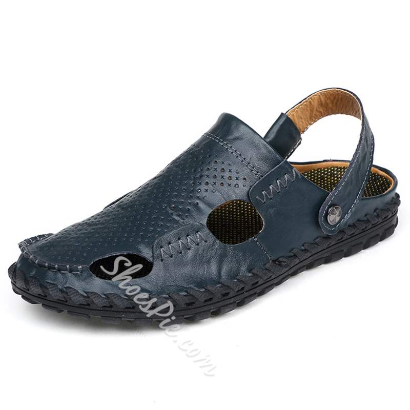 Shoespie Cover Toe Cutout Men's Beach Sandals