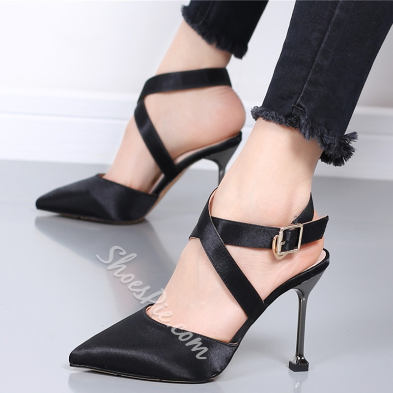 Shoespie Elegant Summer Cross Wrap Stiletto Cheap Heels
