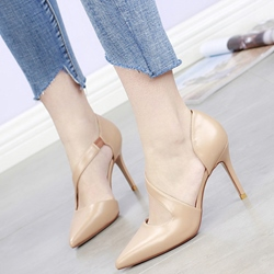 Shoespie Elegant Solid Color Pointed Toe Stiletto Cheap Heels