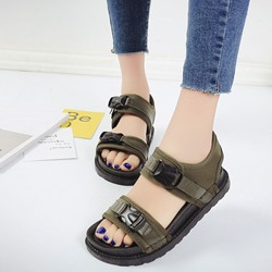 Shoespie Buckles Flat Roman Sandals