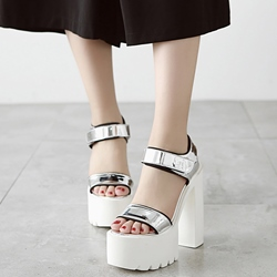 Shoespie Rugged Platform Chunky Heel Velcro Strap Sandals