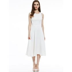 Round Neck Sleeveless Hollow Women's A-Line Dress