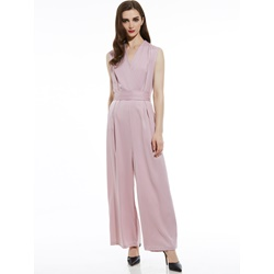 Slim Plain Wide Legs Women's Jumpsuit