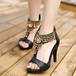 Shoespie Bohemia Beaded Dress Sandals